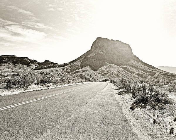 Photograph - Monochrome Big Bend National Park by M K Miller