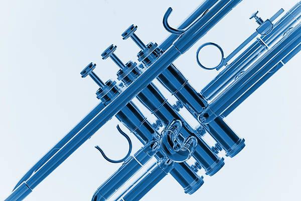 Photograph - Monochrome Trumpet by M K Miller