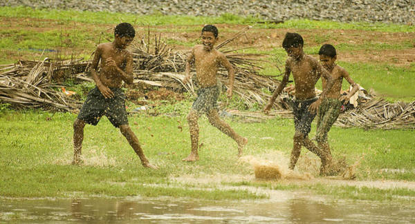 Worldcup Photograph - Monsoon Football - 1 by Sydney Alvares