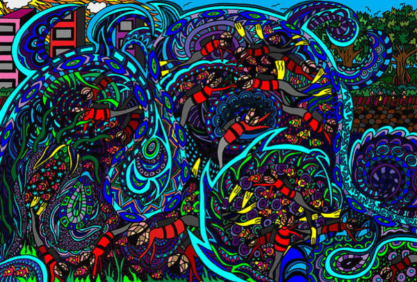 Wall Art - Painting - Monster Wave by Karen Elzinga