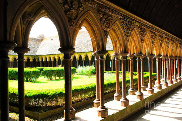 Wall Art - Photograph - Mont Saint Michel Cloister by Elena Elisseeva