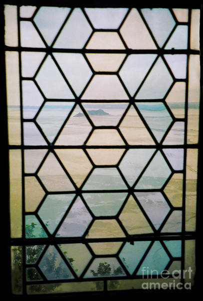 Photograph - Mont St Michel Abbey Window by Donna L Munro