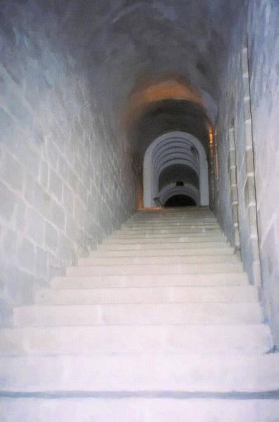 Digital Art - Mont St. Michel Stairs by Donna L Munro