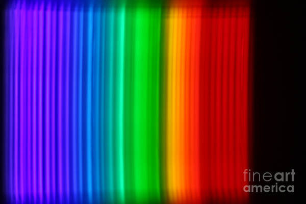 Grating Wall Art - Photograph - Montage Of Various Spectra by Ted Kinsman