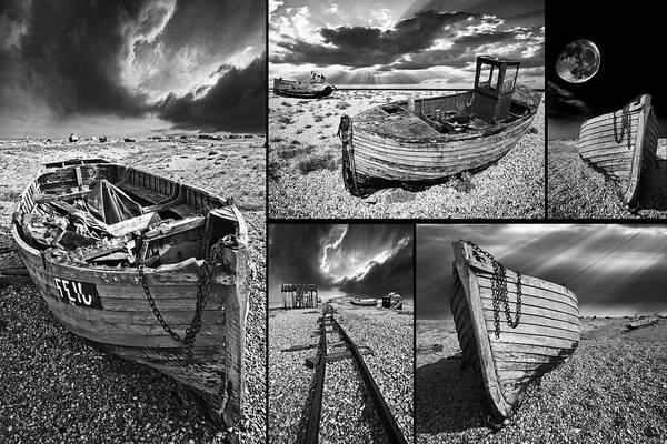 Photograph - Montage Of Wrecked Boats by Meirion Matthias