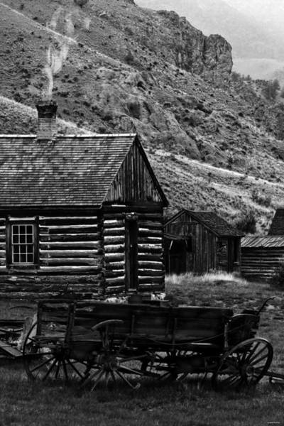 Photograph - Montana Log Cabin by Joseph Noonan