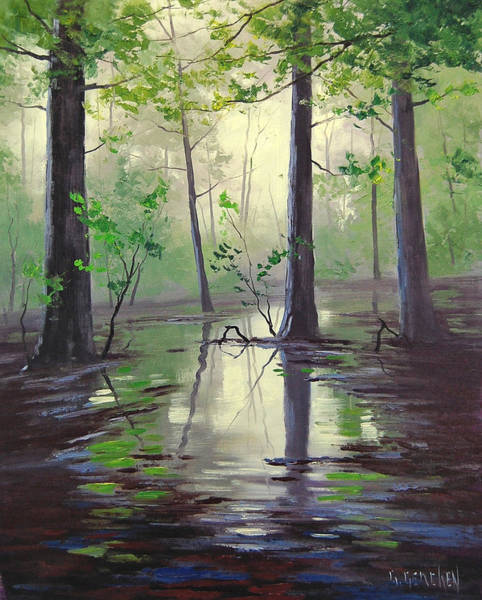 Swamp Painting - Montana Swamp  by Graham Gercken