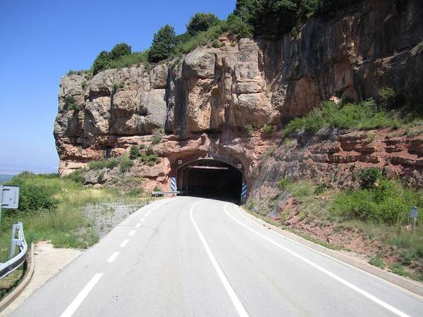 Photograph - Montserrat Mountain Highway Tunnel View Near Barcelona Spain by John Shiron