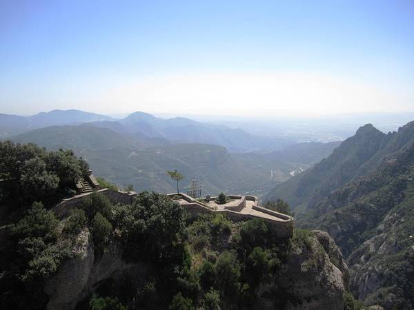 Photograph - Montserrat Mountain Top Valley View II Near Barcelona Spain by John Shiron