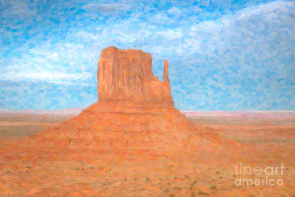 Photograph - Monument Valley Left Mitten by Clarence Holmes