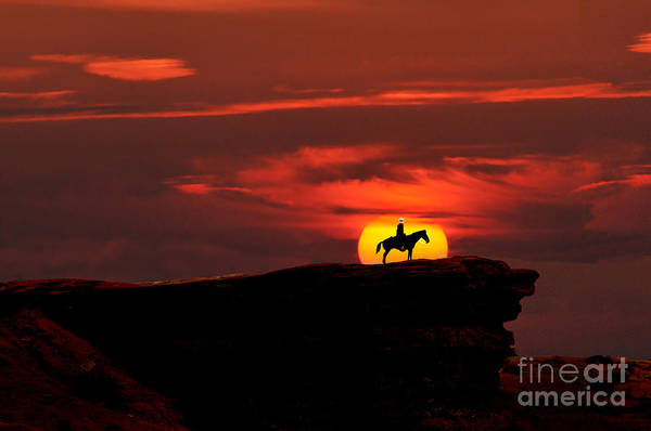 Photograph - Monument Valley Navejo On Horse by Dan Friend