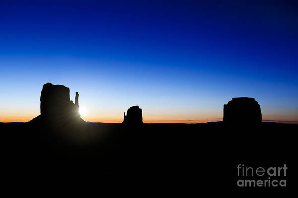 Navajo Indian Reservation Photograph - Monument Valley Sunrise by Jane Rix