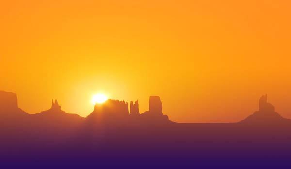 Digital Art - Monumental Sunrise by Rick Wicker