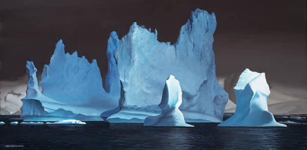 Painting - Monuments Of Ice by Cliff Wassmann