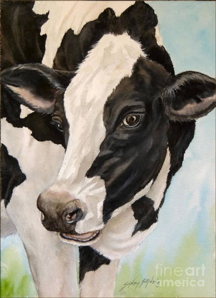 Painting - Moo...sold by Sandy Brindle