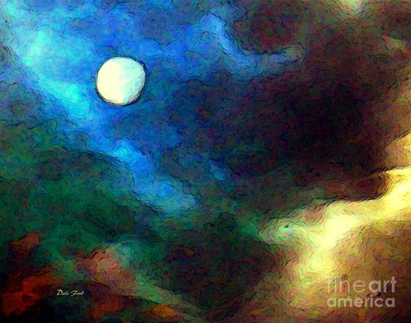 Digital Art - Moon by Dale   Ford