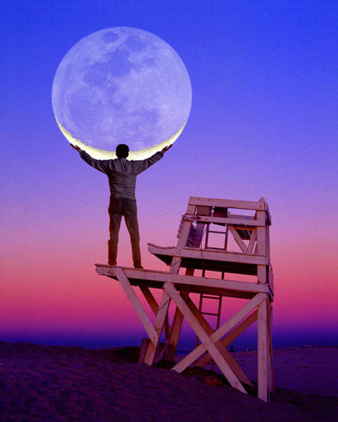 Photograph - Moon Holder by Larry Landolfi