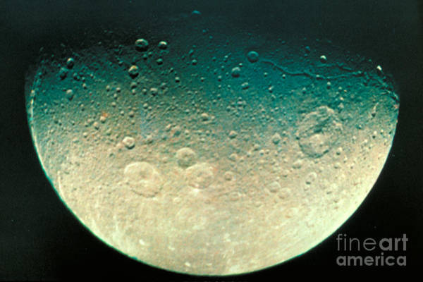 Dione Photograph - Moon Of Saturn by ASP / Science Source