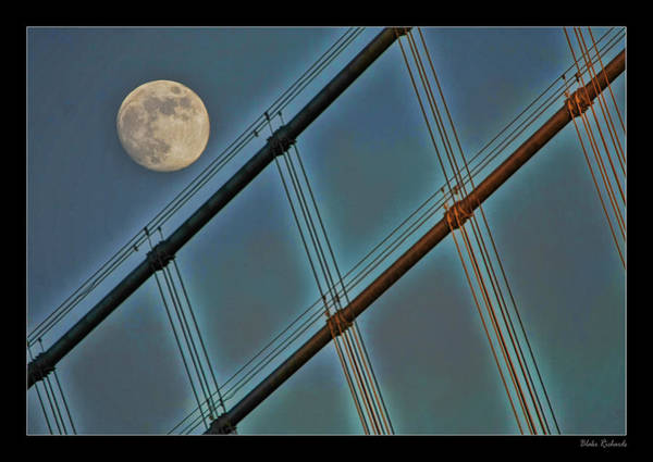 Photograph - Moon On Bay Bridge by Blake Richards