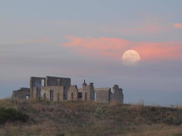 Moon Over Fort Laramie Art Print