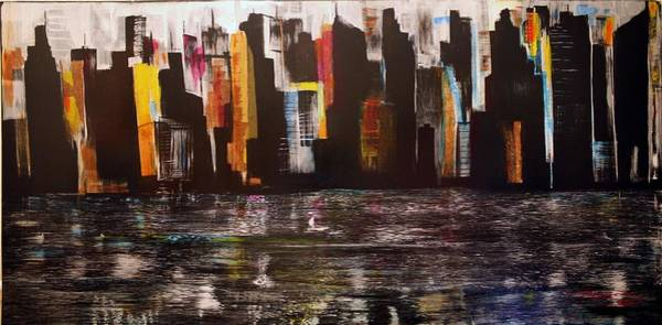 Painting - Moon Over Manhattan by Jack Diamond