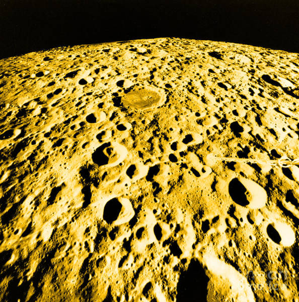 Photograph - Moon Surface by Science Source NASA