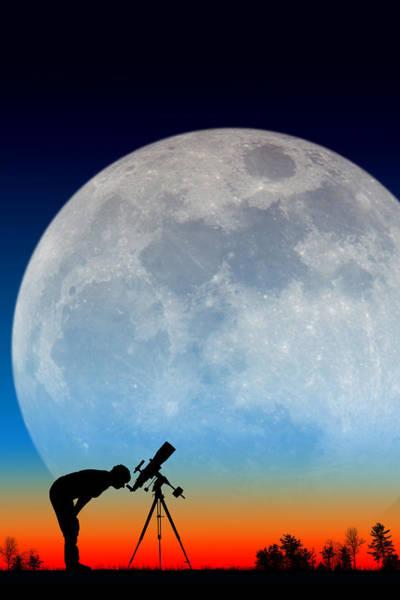 Photograph - Moon Watcher by Larry Landolfi