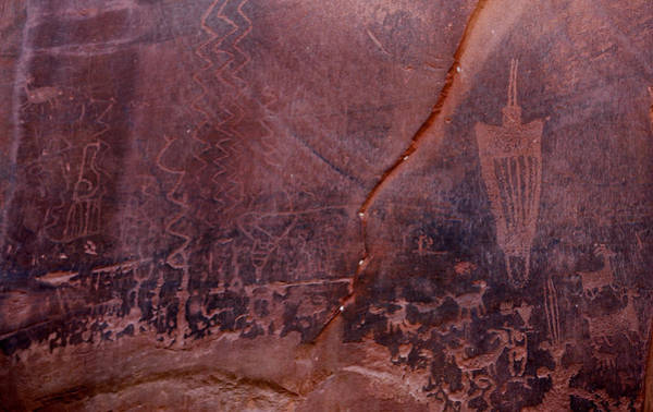 Photograph - Moonflower Canyon Petroglyphs by Marilyn Hunt