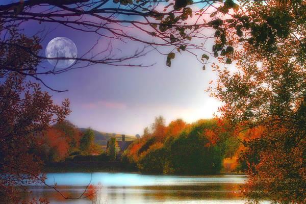 South Lake Digital Art - Moonglow by Julie L Hoddinott