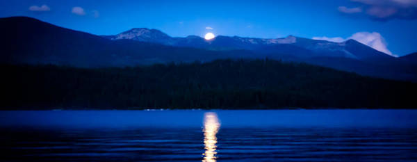 Priest Lake Photograph - Moonrise At Priest Lake by David Patterson
