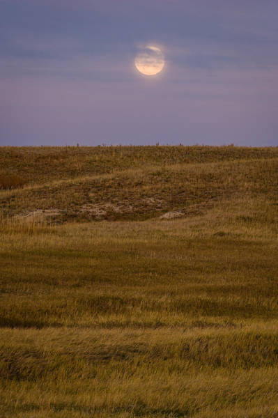 Badlands Photograph - Moonrise Over Badlands South Dakota by Steve Gadomski