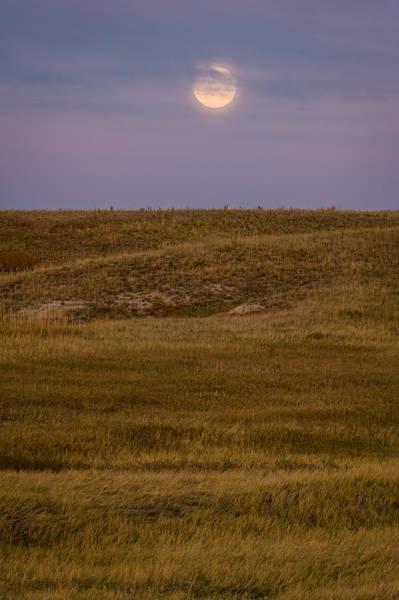Wall Art - Photograph - Moonrise Over Badlands South Dakota by Steve Gadomski