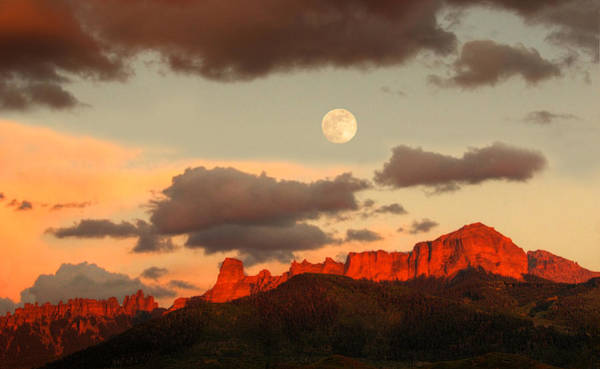 Photograph - Moonrise Over Cimarron by Rick Wicker