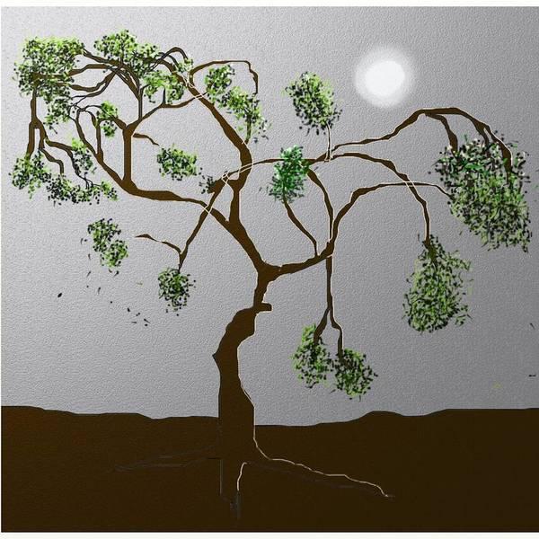 Digital Art - Moontree2 by Eugene Foltuz