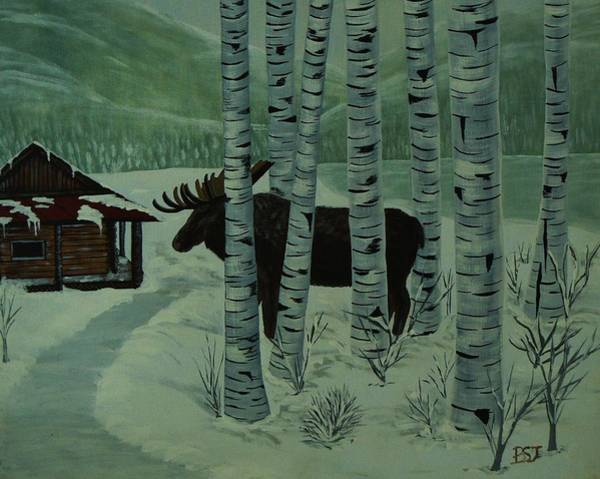 Painting - Moose Lake by Barbara St Jean