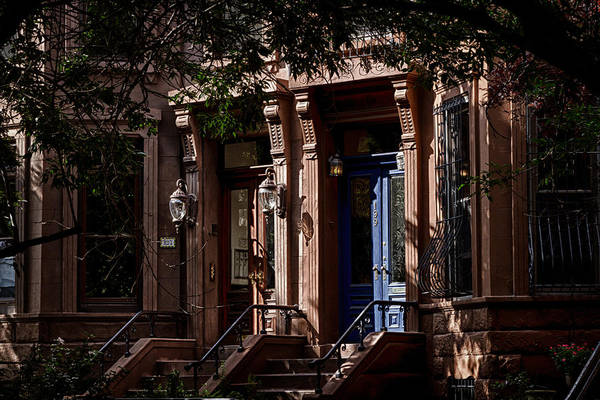 Photograph - More Park Slope Brownstones by Val Black Russian Tourchin