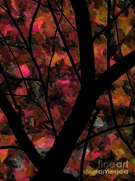 Wall Art - Painting - More Trees And Leaves by Steven Lebron Langston