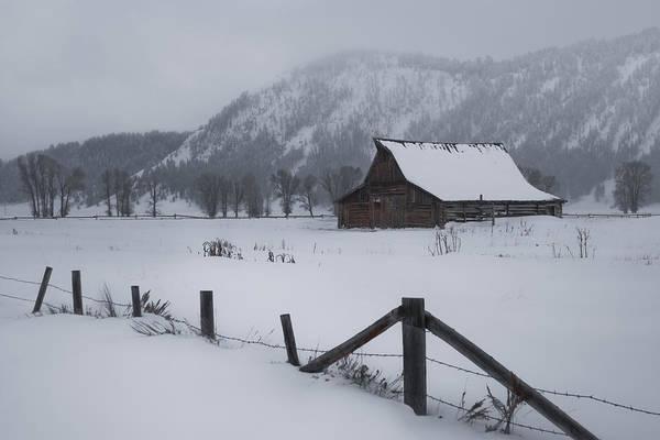 Photograph - Mormon Row Winter by Ryan Heffron