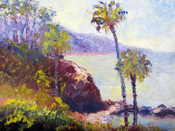 Laguna Beach Painting - Morning At Laguna Beach by Terry  Chacon