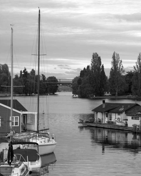 Houseboat Photograph - Morning In Montlake by Mike Reid