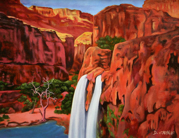 Painting - Morning In The Canyon by Daniel Carvalho