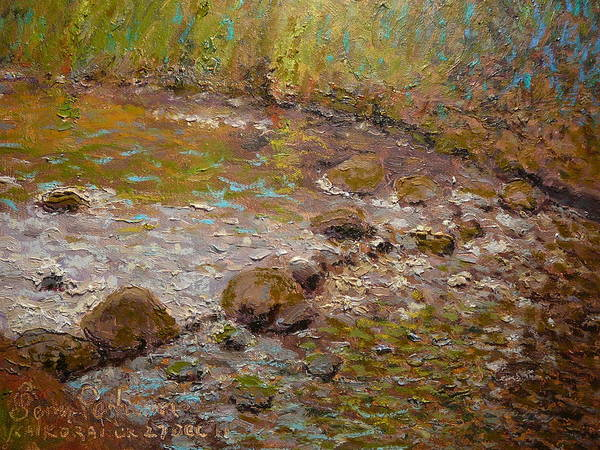 Nz.impressionist Painting - Morning Light Kaikorai Stream by Terry Perham