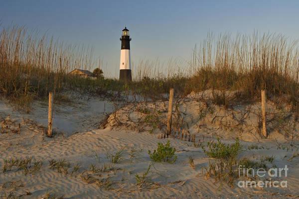 Tybee Island Photograph - Morning Light On Tybee Island Lighthouse - D001954 by Daniel Dempster