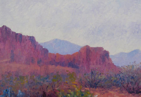 Valley Of Fire Painting - Morning Rain by Terry  Chacon