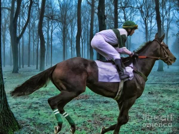 Mixed Media - Morning Ride by Jerry L Barrett