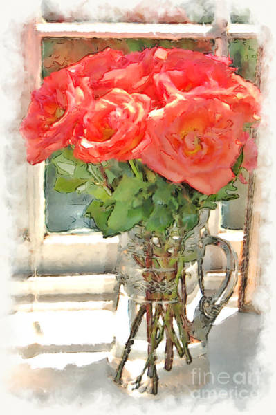 Photograph - Morning Roses by Donna Bentley