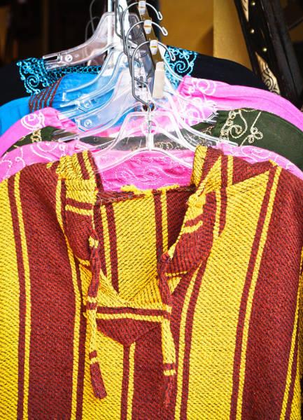 Dress Shop Photograph - Moroccan Clothes by Tom Gowanlock