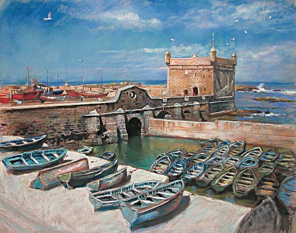 Seagulls Wall Art - Pastel - Morocco by Ylli Haruni