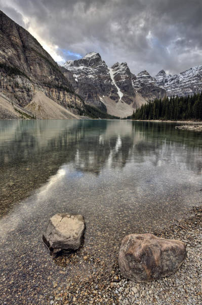 Frozen River Digital Art - Morraine Lake Alberta by Mark Duffy