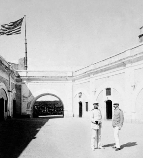 Puerto Rican Photograph - Morro Castle - Interior - San Juan - Puerto Rico - C 1900 by International  Images